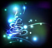 Glowing christmas tree. Modern abstract christmas tree, eps 10 Stock Photography