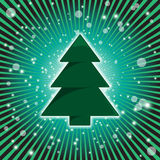 Glowing Christmas Tree Royalty Free Stock Photos