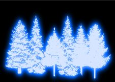 Glowing Christmas Trees Royalty Free Stock Image