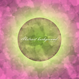 Glowing circle on abstract of blurred texture. Background with gradient backdrop. There is example of inscription for your text Stock Photography