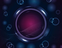 Glowing circle background Stock Image