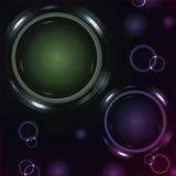 Glowing circle background Stock Photo