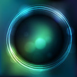 Glowing circle with blurred background Royalty Free Stock Photography