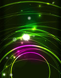 Glowing circle in dark space. Glowing circle and blending colors in dark space. Vector illustration. Abstract background Stock Photo