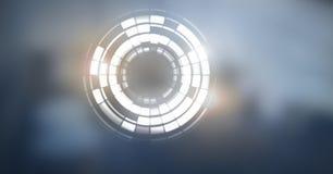 Glowing circle technology interface. Digital composite of Glowing circle technology interface Royalty Free Stock Photography