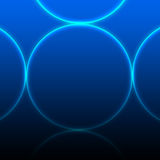 Glowing circles Royalty Free Stock Photos