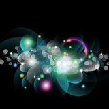 Glowing Circles Background Royalty Free Stock Image