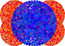 Glowing circles  background Royalty Free Stock Photography