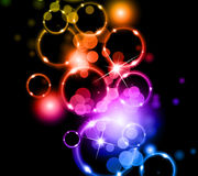 Glowing Circles of llight Stock Photo