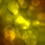 Glowing circles on a yellow background Stock Photo