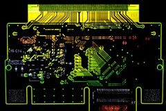 Glowing circuit board Stock Image