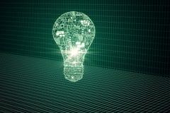 Glowing circuit lamp vector illustration
