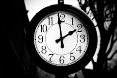 Glowing clock Stock Photo