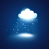 Glowing cloud Royalty Free Stock Photo