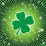 Glowing Clover Stock Image