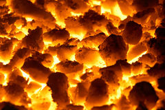 Glowing coals Royalty Free Stock Images