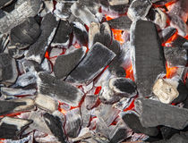 Glowing Coals Royalty Free Stock Photography