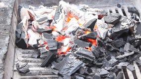 Glowing coals stock video