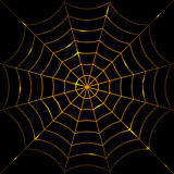 Glowing cobweb Royalty Free Stock Image