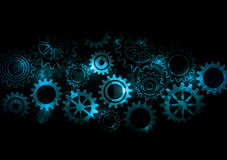 Glowing Cogs & Gears Stock Image