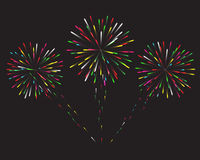 Glowing collection. Firework, light effects  on dark background Stock Image