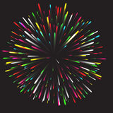 Glowing collection. Firework, light effects isolated on dark background. Transparent sunlight lens flare, stars. Shining elements. Holiday fireworks. Vector Royalty Free Stock Images