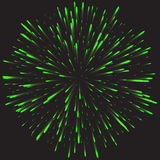 Glowing collection. Firework, light effects isolated on dark background. Royalty Free Stock Photography
