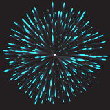 Glowing collection. Firework, light effects isolated on dark background. Royalty Free Stock Images