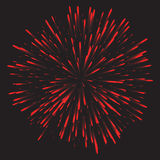 Glowing collection. Firework, light effects isolated on dark background. Stock Photo