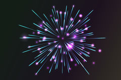 Glowing collection. Firework. Royalty Free Stock Photography