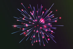 Glowing collection. Firework. Royalty Free Stock Photos