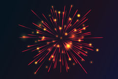 Glowing collection. Firework. Royalty Free Stock Image