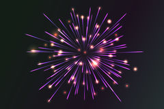Glowing collection. Firework. Royalty Free Stock Photo