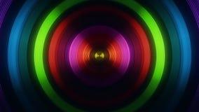 Colofrul Round Circular Waves Tunnel VJ Loop Motion Background V1. Glowing Colofrul Round Circular Waves Tunnel VJ Loop Motion Background V1 Backdrop stock footage