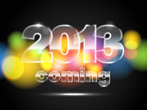 Glowing color circles. 2013 is coming Stock Photo