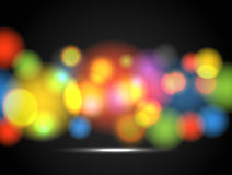 Glowing color circles Royalty Free Stock Image