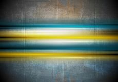 Glowing colorful stripes on grunge wall background Royalty Free Stock Images