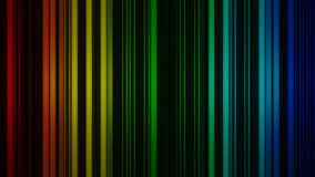 Glowing colorful vertical lines. Abstract 3D render Stock Photo