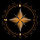 Glowing compass dial Royalty Free Stock Image