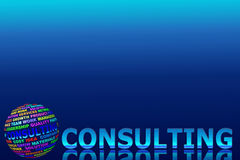 Glowing consulting word with globe Stock Images