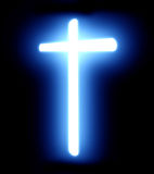 Glowing cross Royalty Free Stock Image