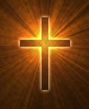 Glowing cross Stock Photo