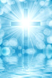 Glowing cross Royalty Free Stock Images