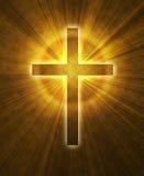 Glowing cross Stock Image