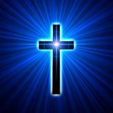 Glowing cross Royalty Free Stock Photos