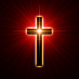 Glowing cross Stock Photography