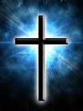 Glowing cross Royalty Free Stock Photo