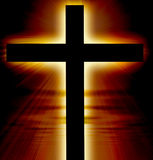 Glowing cross Stock Photos