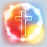 Glowing Cross Illustration Stock Image
