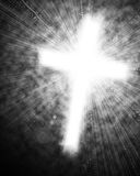 Glowing cross in sky Stock Image